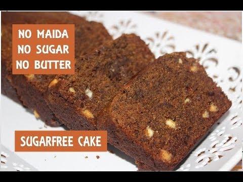 Eggless Sugar Free Atta Cake In Hindi/No Maida/No Sugar/No Butter Eggless Cake Eng Subtiles