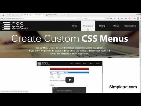 How To Build Dynamic CSS Drop Down Menus Using Pure CSS, PHP And MYSQLi - Includes Dynamic Sub Menus