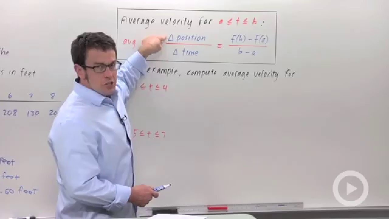how to work out average velocity