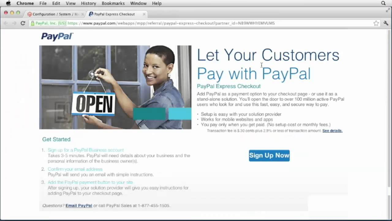 How to Setup Paypal for Magento