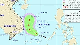 Tin Bão Mới Nhất: Vùng áp thấp gây mưa giông trên Biển Đông