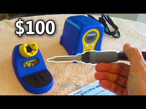 $100 Soldering Iron HAKKO FX888D 23BY Review UNBOXING Electronics Repair Station Arcade Monitor