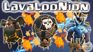 LavaLooNion 100% na Guerra - Lava, Balão, Servo - Rodolfo Clash of Clans