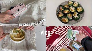 vlog • 건강식 해먹는 다이어트 일상 🥦 고구마에그슬럿, 리틀리케 요거트, 컬리플라워 볶음밥, 헤일로탑 🍨 casetify 케이스 직구, 장보고 다이어트 김밥 만들기 🍙
