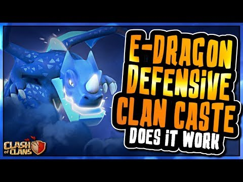 IS THE ELECTRO DRAGON A GOOD DEFENSIVE CLAN CASTLE TROOP | Clash of Clans