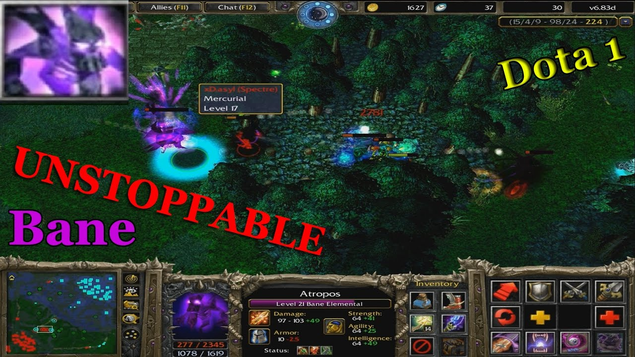 bane elemental unstoppable dota 1 atropos youtube
