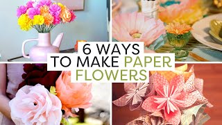 Add These Colorful Paper Flowers To Your Home Decor