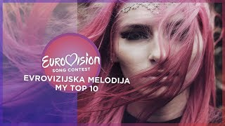 Eurovision 2019 (Evrovizijska Melodija/EMA 2019/Slovenian National Selection) - Top 10