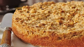 Apple Streusel Cake Recipe Demonstration - Joyofbaking.com