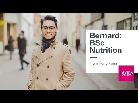 Bernard, from Hong Kong studying Nutrition | Oxford Brookes University