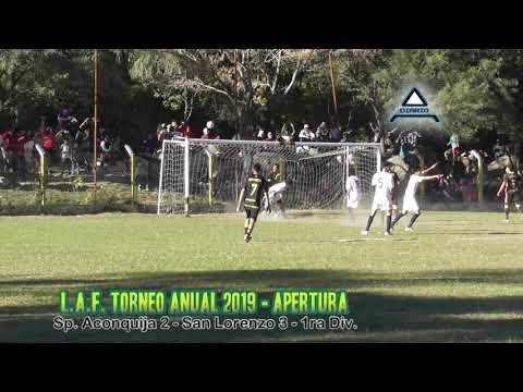 Sp. Aconquija 2 - San Lorenzo 3 (LAF - Apertura 2019) - 1ra fecha