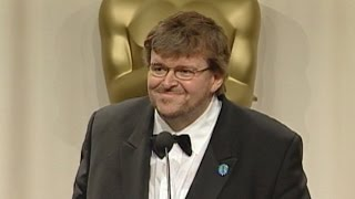 Michael Moore @ The Academy Awards 2003