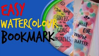 Easy watercolor bookmark in 2 mins #DIY #FOR KIDS