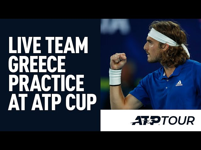 Exclusive Practice With Stef Tsitsipas & Team Greece