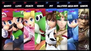 Super Smash Bros Ultimate Amiibo Fights Request #564 Team Mario vs Team Captain N