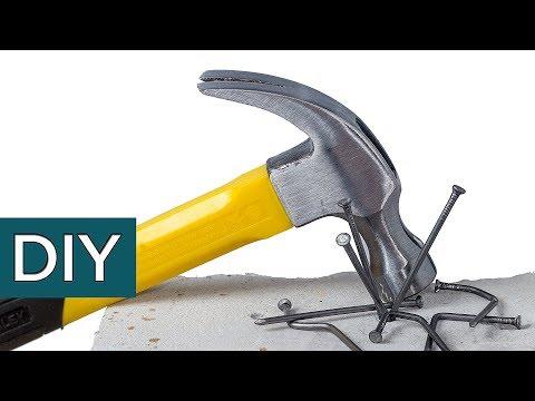 Как забить гвоздь в бетонную стену