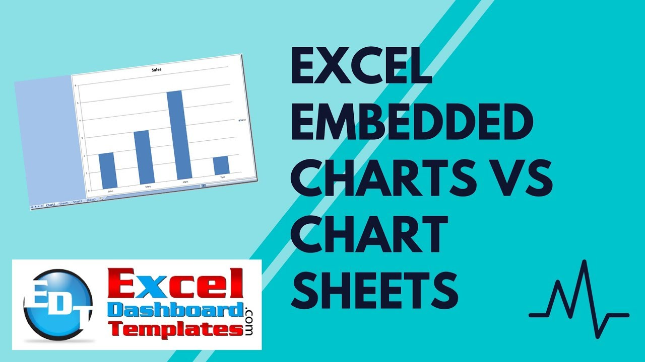 Excel embedded charts vs chart sheets also youtube rh