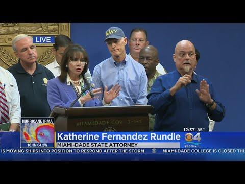 Miami-Dade State Attorney Katherine Fernandez Rundle Warns Against Price Gouging