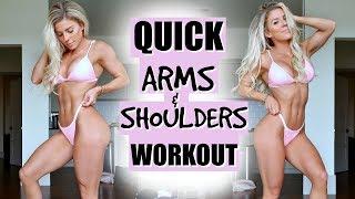 QUICK Arm & Shoulder Workout | My GUILTY Pleasure
