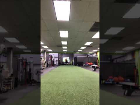 Silverback training project. WK 3 competition. 100lb DB's for 8 reps each leg