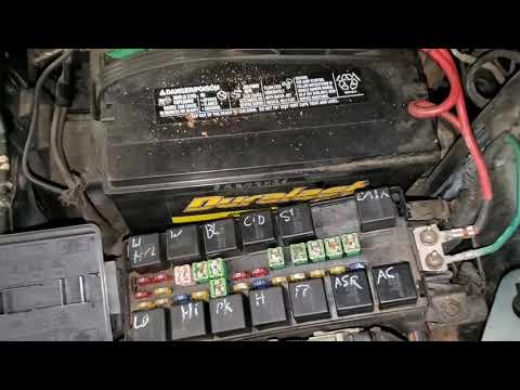 2000 Grand Voyager Starter Relay & Fuse, Fuel Pump Relay & Fuse Location