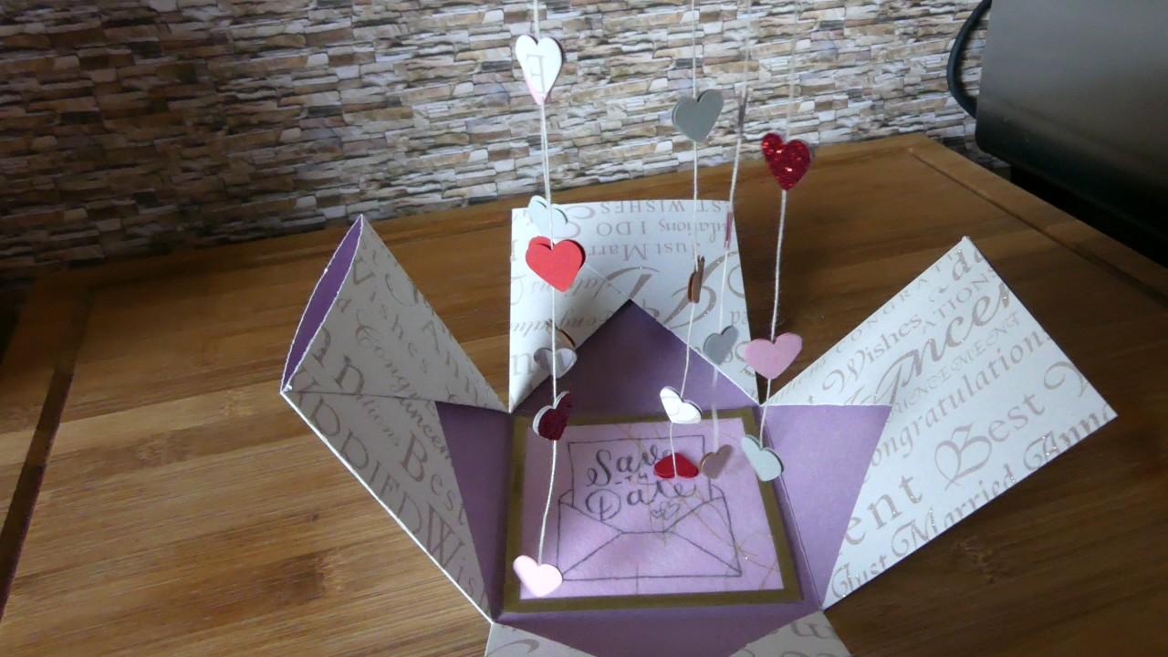Folia Exploding Box Hochzeit Einladung  YouTube