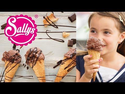 Schokoladeneis DIY / sehr schokoladig & cremig / Sallys Welt