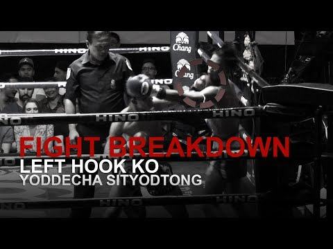 FIGHT BREAKDOWN: Powerful Muay Thai Left Hook KO!
