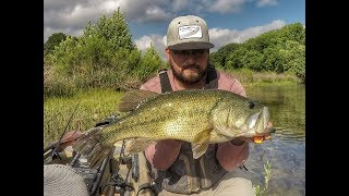 Catching TOADS on the TOP-TOAD***Kayak Bass Fishing