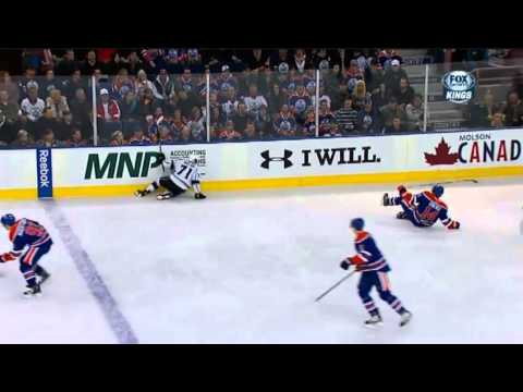 Jordan Nolan hits Jordan Eberle and fights Ladislav Smid {Dual-Feed}