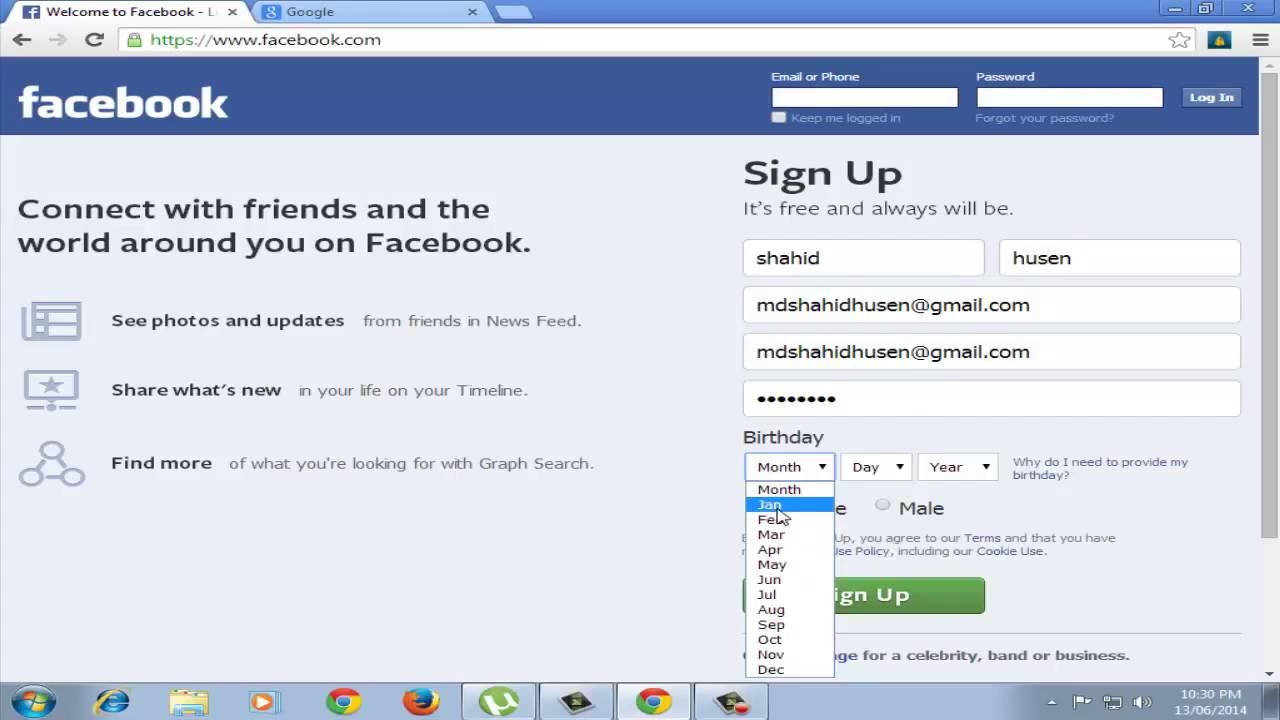 How To Open Create New Facebook Account Hindi Urdu Account