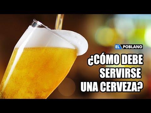 �C�mo debe servirse una cerveza