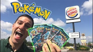 POKEMON CARDS PACK OPENING at BURGER KING! - Double Colorless Energy SECRET RARE! Where You At?!