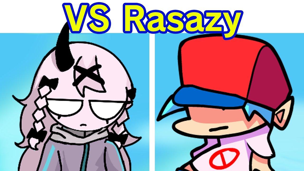 Friday Night Funkin' VS Rasazy Week + Cutscenes (FNF Mod/Hard) (Sarvente's Mid-Fight Masses)