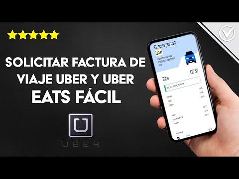 Dónde Puedo Solicitar una Factura de un Viaje Uber y Uber Eats, Fácil y Rápido