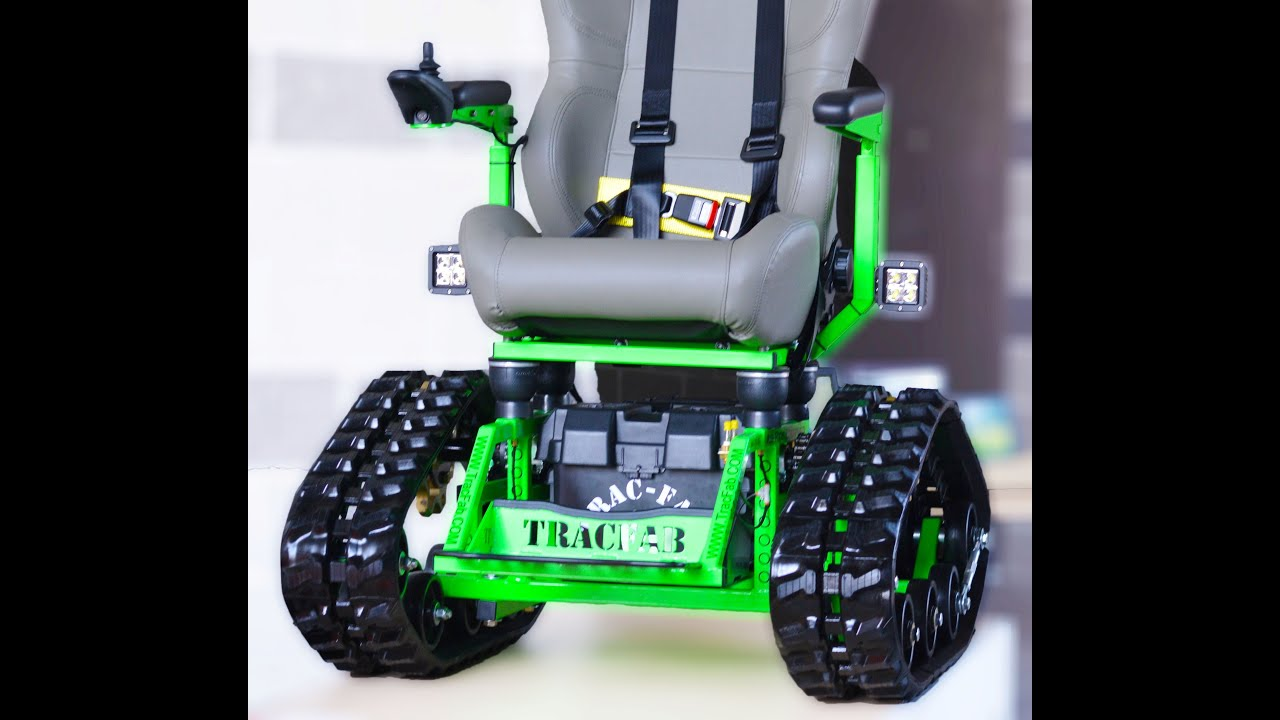 power chair with tracks ice fishing canada tracfab tracked wheelchair promo video funnycat tv
