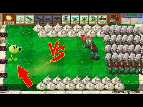 Plants Vs Zombies - 1 Peashooter Pvz Vs 999 Zombies
