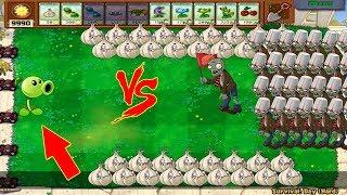 Plants vs Zombies - 1 Peashooter Pvz vs 999 Zombies