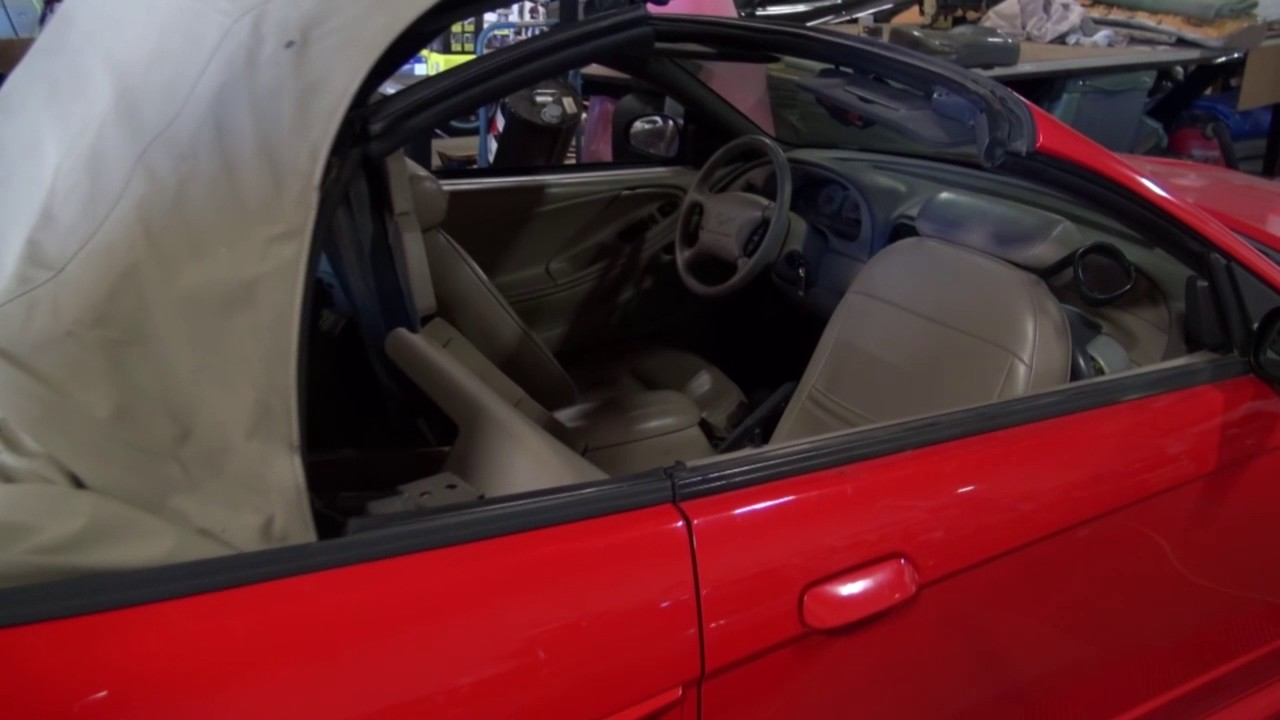 Mustang Convertible Top Repair Leaking Cylinder Replacement by Cooks  Upholstery
