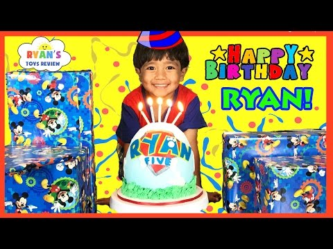 Thumbnail: Ryan's 5th Birthday Party Surprise Toys Opening Presents Paw Patrol Egg Surprise Smash Birthday Cake