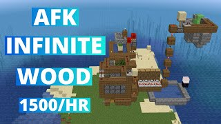AFK Tree Farm MINECRAFT - Oak - 1500/Hr - 1.15.2