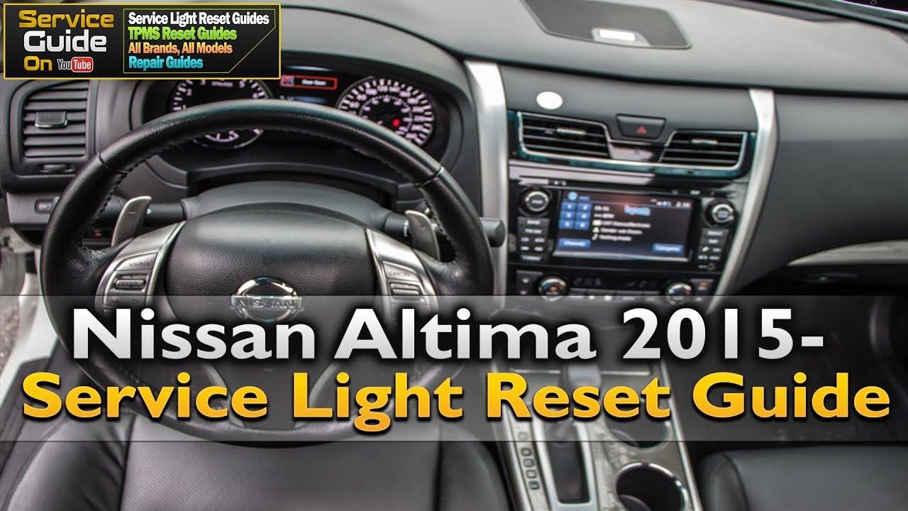 Nissan Altima Service Light Reset Guide!