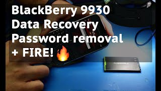 BlackBerry 9930 Password, data recovery + fire