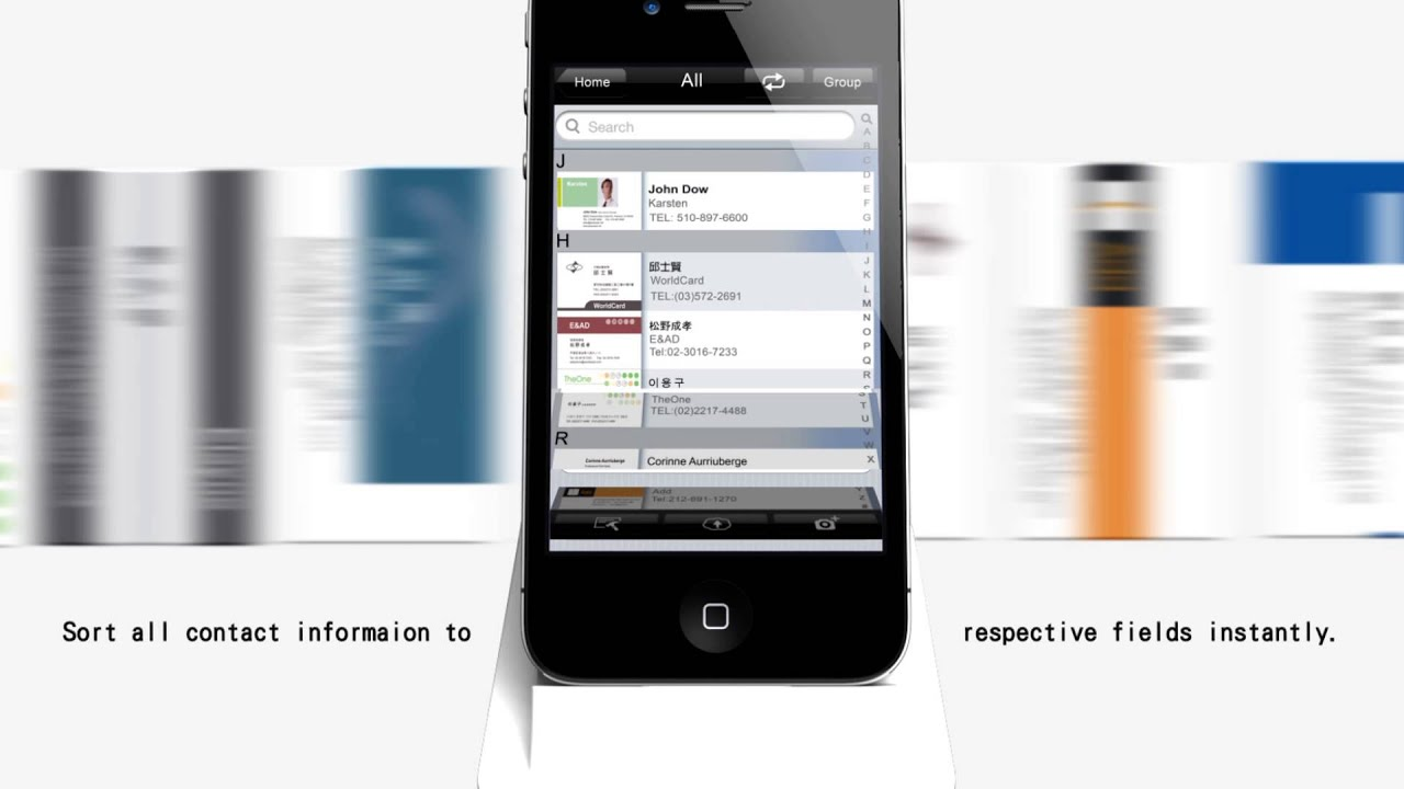 WorldCard Link - SMART dock and app for business card management ...