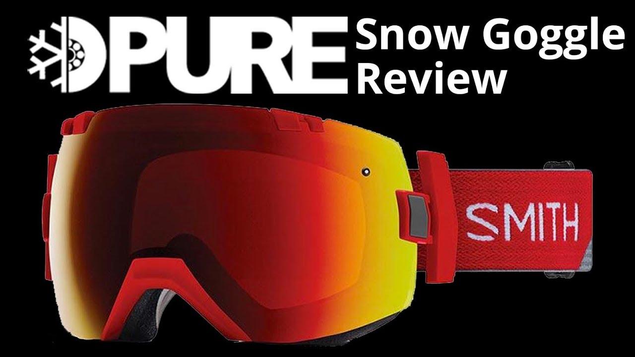 25ad752b0e Smith I OX Snow Goggles Review - PureBoardShop.com - YouTube