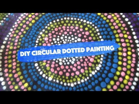 Speed Art: Circular Dot Painting | DIY Wall Art Ideas