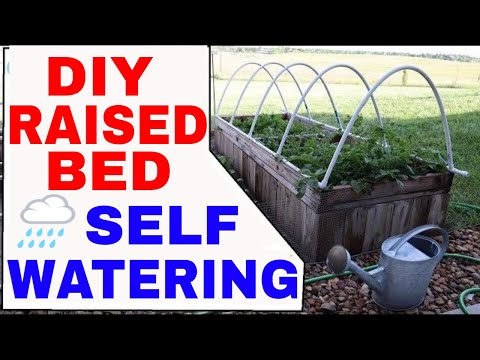 ORGANIC GARDENING–How To Build a Self Watering Hinged Low Tunnel Hoophouse