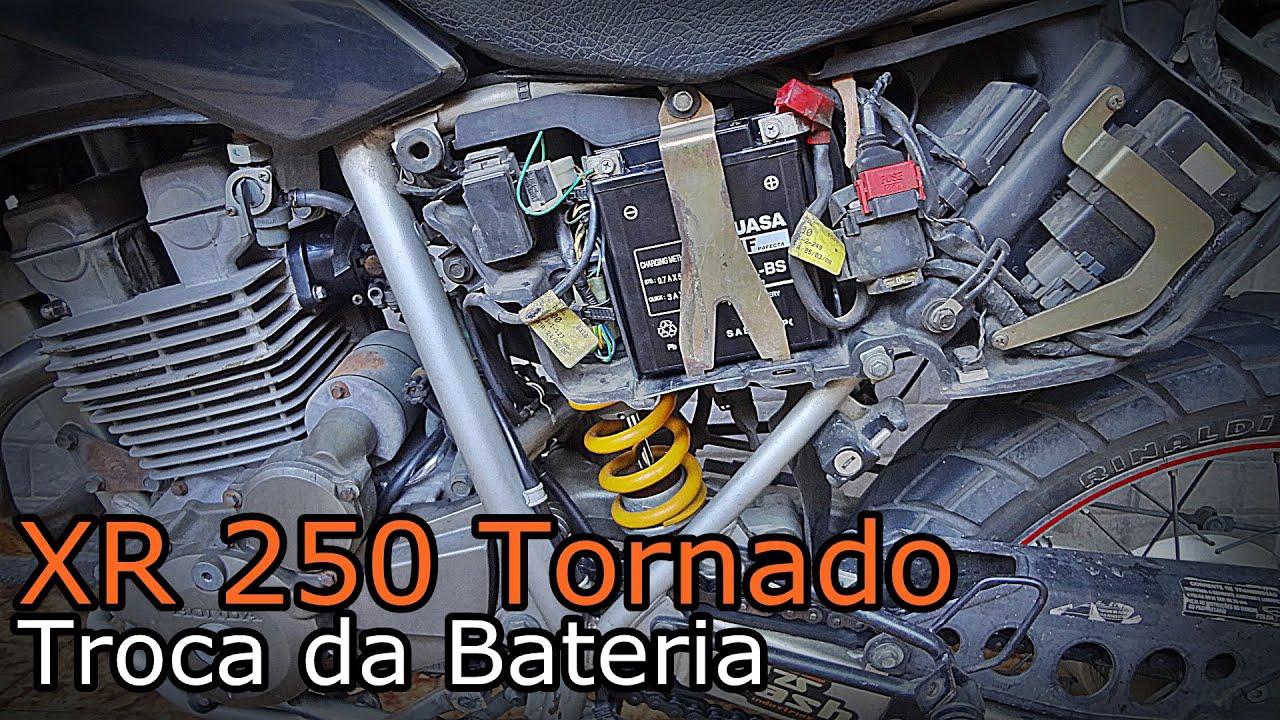 XR 250 TORNADO - Troca da Bateria - YouTube