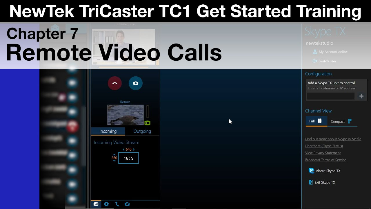 TriCaster TC1 Get Started Training Chapter 7 - Remote Video Calls
