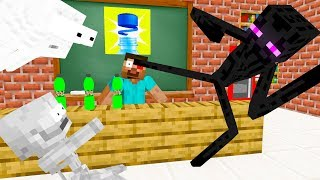 Monster School : BOTTLE CAP CHALLENGE - Minecraft Animation